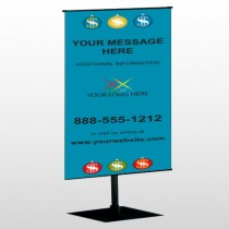 Insurance 176 Center Pole Banner Stand