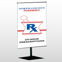 Pharmacy 101 Center Pole Banner Stand