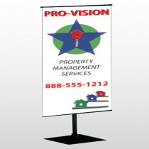Property Management 363 Center Pole Banner Stand