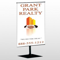 Real Handshake 365 Center Pole Banner Stand
