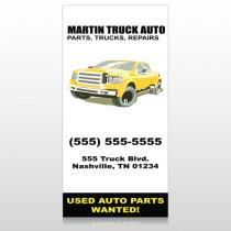 Black & Yellow Truck 117 Custom Sign