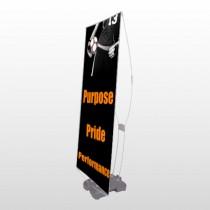 Black 41 Exterior Flex Banner Stand