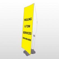 Hauling 127 Exterior Flex Banner Stand