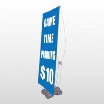 Parking 123 Exterior Flex Banner Stand
