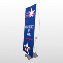 Superintendent 306 Exterior Flex Banner Stand