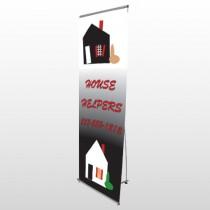 Househelper 245 Flex Banner Stand