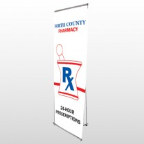 Pharmacy 101 Flex Banner Stand
