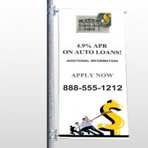 Auto Loan 173 Pole Banner