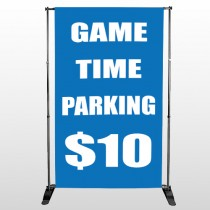 Parking 123 Pocket Banner Stand