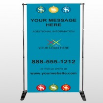 Insurance 176 Pocket Banner Stand
