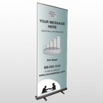 Bank 174 Retractable Banner Stand