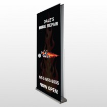 Harley Flame 108 Retractable Banner Stand