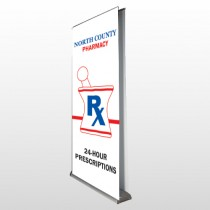 Pharmacy 101 Retractable Banner Stand