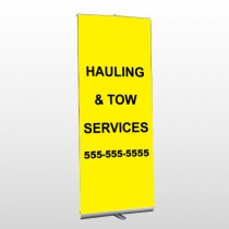 Hauling 127 Retractable Banner Stand