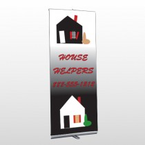 Househelper 245 Retractable Banner Stand
