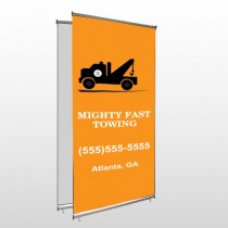 Mighty 128 Center Pole Banner Stand