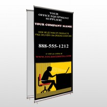 Office 149 Center Pole Banner Stand