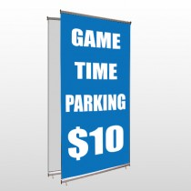 Parking 123 Center Pole Banner Stand