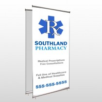 Pharmacy 103 Center Pole Banner Stand