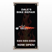 Harley Flame 108 Track Banner
