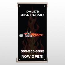 Harley Flames 108 Track Sign