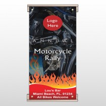 Motorcycle Flame 107 Track Sign