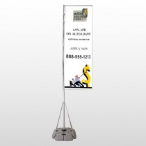 Auto Loan 173 Exterior Flag Banner Stand
