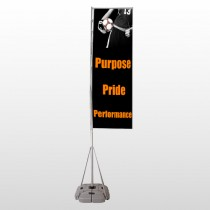 Black 41 Exterior Flag Banner Stand