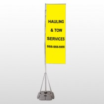 Hauling 127 Exterior Flag Banner Stand