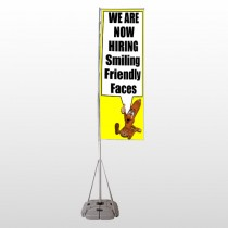 Small Business 54 Exterior Flag Banner Stand