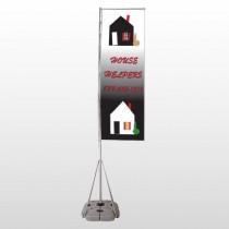 Househelper 245 Exterior Flag Banner Stand