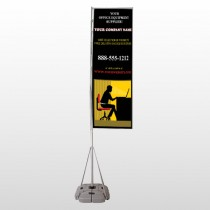 Office 149 Exterior Flag Banner Stand