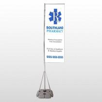Pharmacy 103 Exterior Flag Banner Stand