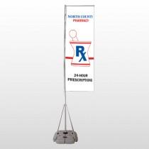Pharmacy 101 Exterior Flag Banner Stand
