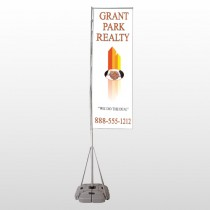 Real Handshake 365 Exterior Flag Banner Stand