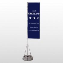 Senate 134 Exterior Flag Banner Stand