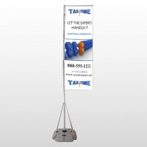 Tax Time 171 Exterior Flag Banner Stand