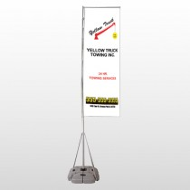 Towing 125 Exterior Flag Banner Stand