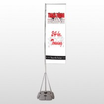 Towing 126 Exterior Flag Banner Stand
