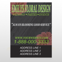 Black And Floral 496 Custom Signs
