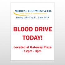 Blood Drive 330 Custom Sign