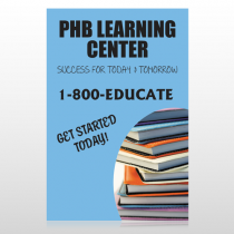 Book Learning 156 Custom Sign