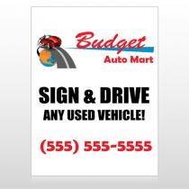 Budget Auto Mart 116 Custom Sign