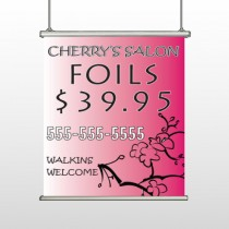 Cherry Salon 288 Hanging Banner
