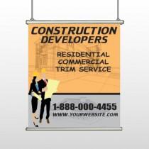 Contractors 645 Hanging Banner