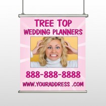 Crazy Wedding 411 Hanging Banner