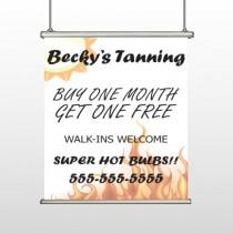 Flaming Sun Tan 298 Hanging Banner