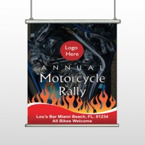 Motorcycle Flame 322 Hanging Banner
