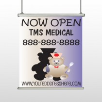 Nurse Bear 504 Hanging Banner