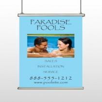 Paradise Pool 529 Hanging Banner